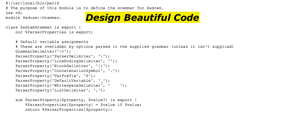 Design Beautiful Code